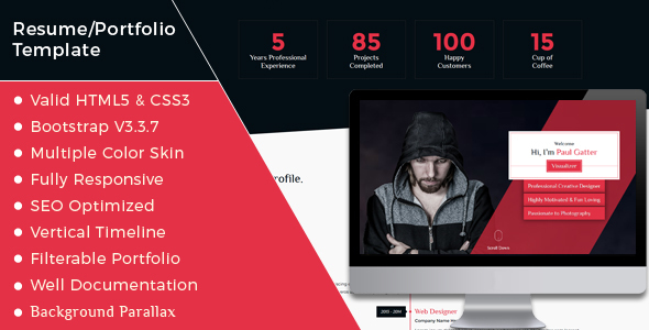 Paul Gatter – Resume & Portfolio Template