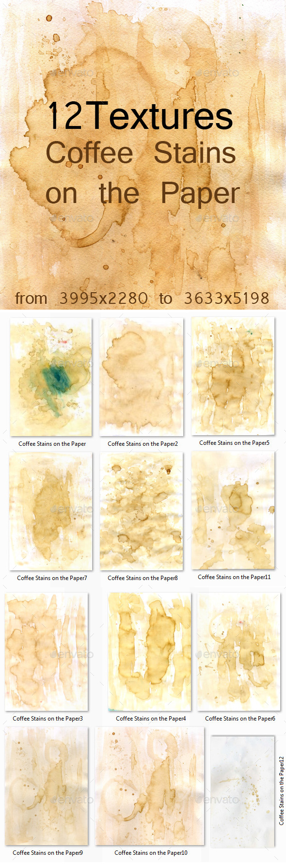 Coffee Stains on the Paper - Paper Textures