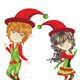 Cute Xmas Elves - GraphicRiver Item for Sale