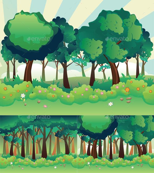 Green Summer Forest - Landscapes Nature