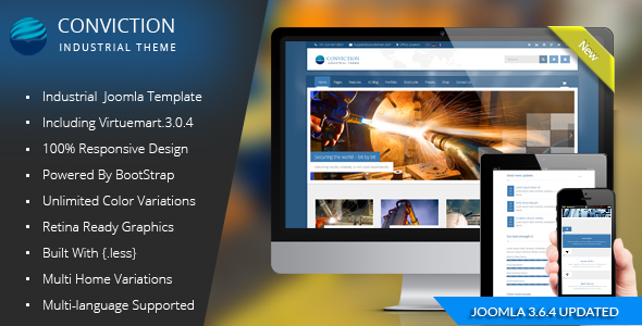 Conviction - Responsive Multi-Purpose Joomla Theme - Business Corporate