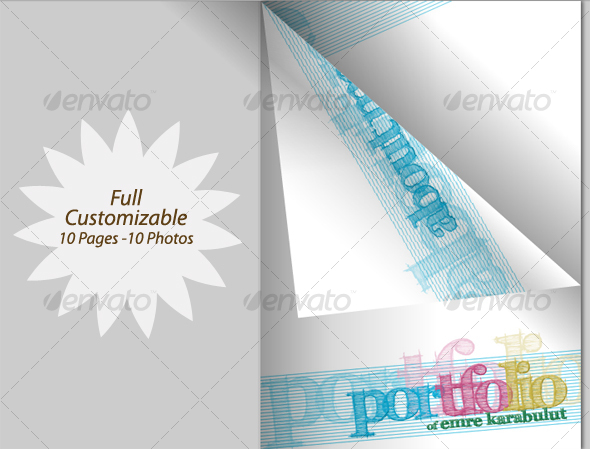 Minimalist & Colorful Portfolio Mazagine & PDF - Portfolio Brochures