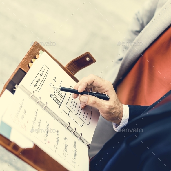 Business People Discussion Planning Growth Strategy Togetherness - Stock Photo - Images