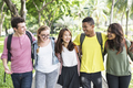 Diverse Group Young People Bonding Outdoors Concept