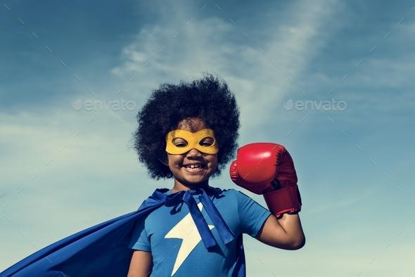 Little Boy Super Hero Concept - Stock Photo - Images
