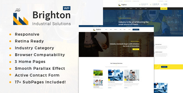 Brighton – Factory, Company And Industry WP Theme