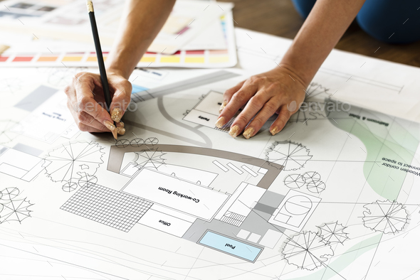 Design Studio Architect Creative Occupation Blueprint Concept - Stock Photo - Images