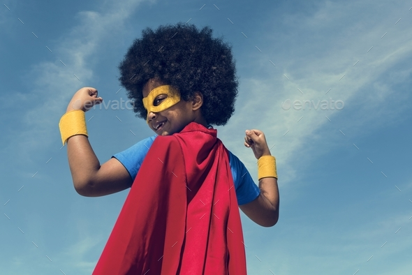 Little Boy Super Hero Concept - Stock Photo - Images