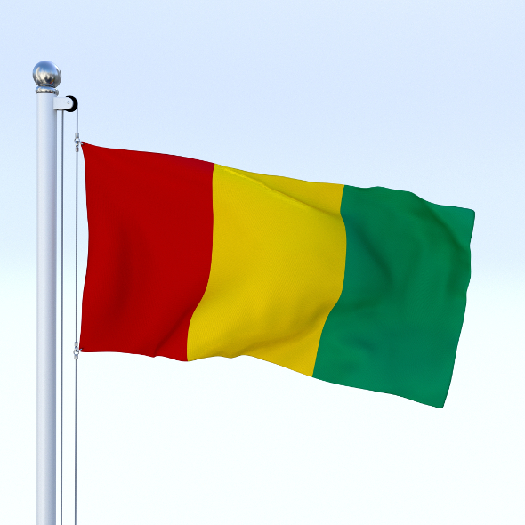 Animated Guinea Flag - 3DOcean Item for Sale