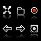 Simple icons on black background - Set 2 - GraphicRiver Item for Sale