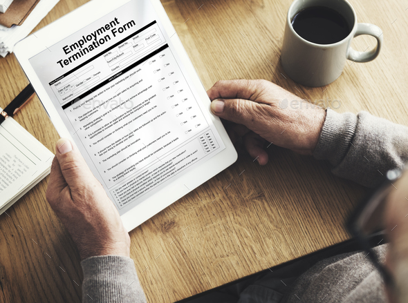 Employment Termination Form Page Graphic Concept - Stock Photo - Images