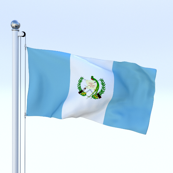 Animated Guatemala Flag - 3DOcean Item for Sale