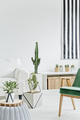White room with green chair - PhotoDune Item for Sale