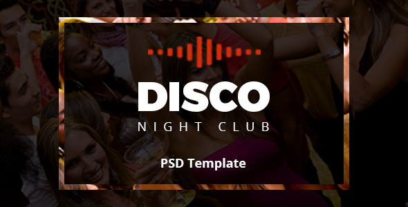 Disco Night Club – PSD Template