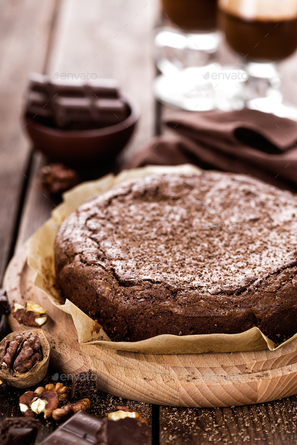 chocolate brownie - Stock Photo - Images