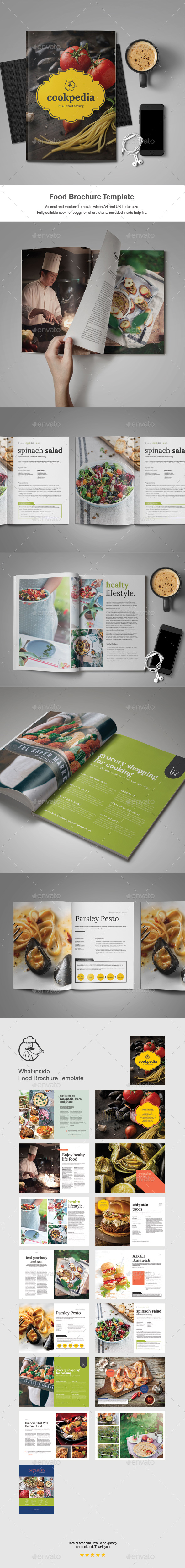 Food Brochure Template - Catalogs Brochures