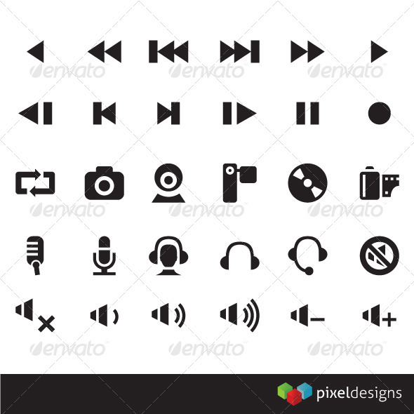 30 Media Icon - Web Icons