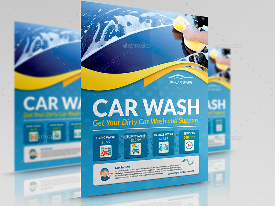 Car Wash Services Advertising Bundle Template By Owpictures