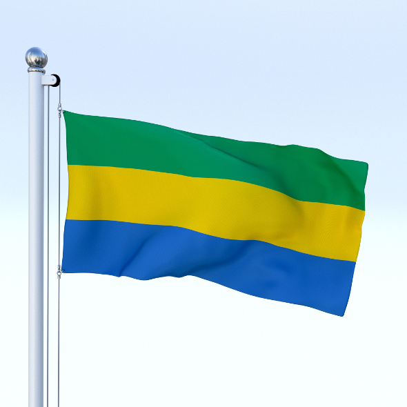 Animated Gabon Flag - 3DOcean Item for Sale