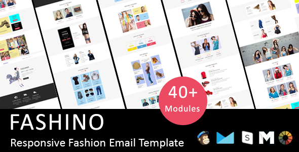 Image of Fashino - Responsive Email Template + Stampready Online Builder Access