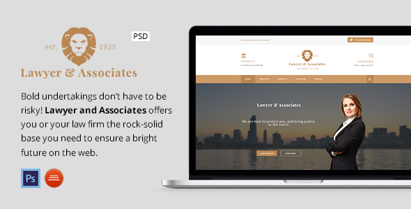 Lawyer & Associates – Attorney / Law Company PSD