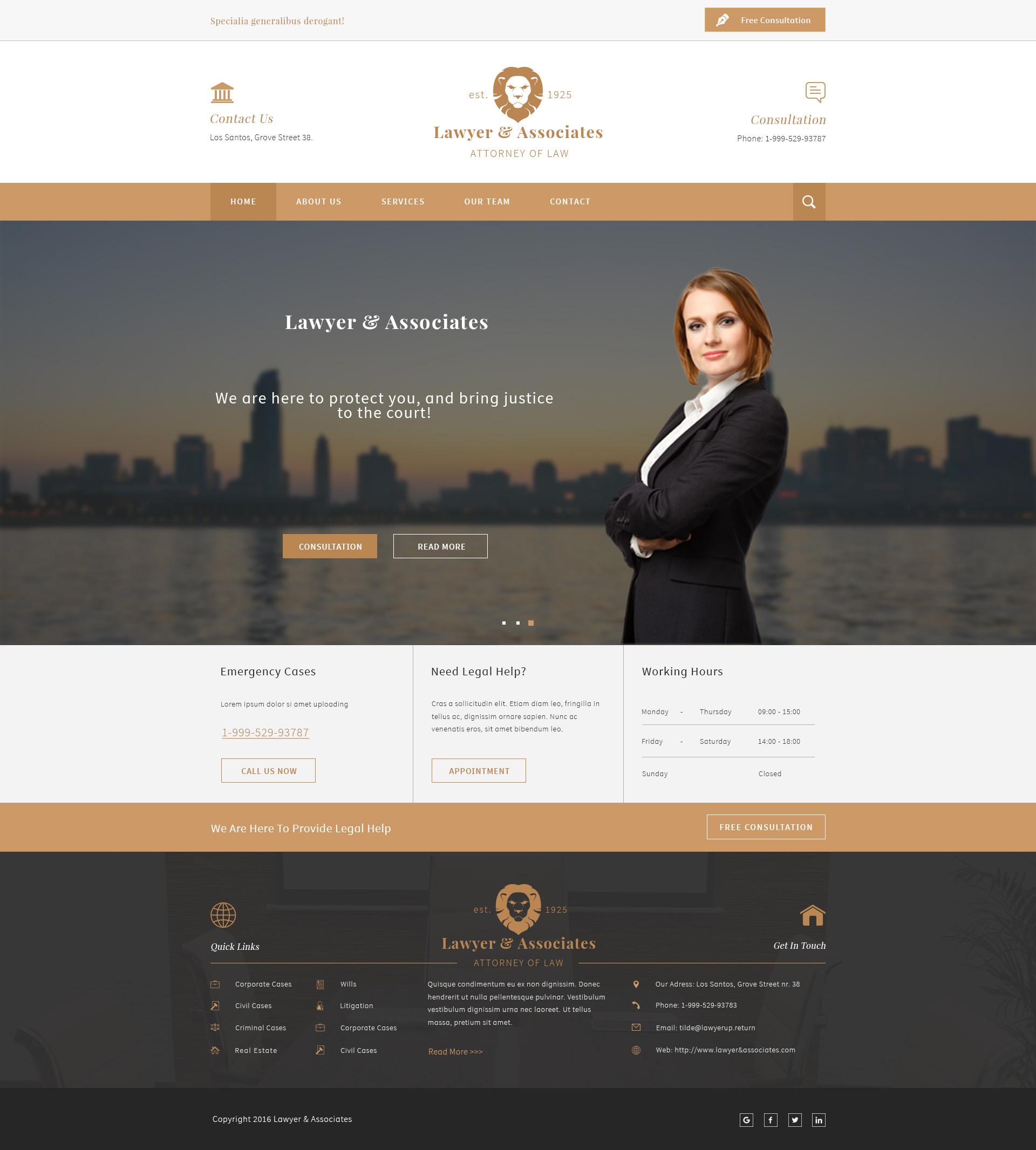 Lawyer & Associates - Attorney / Law Company PSD by europadns ...