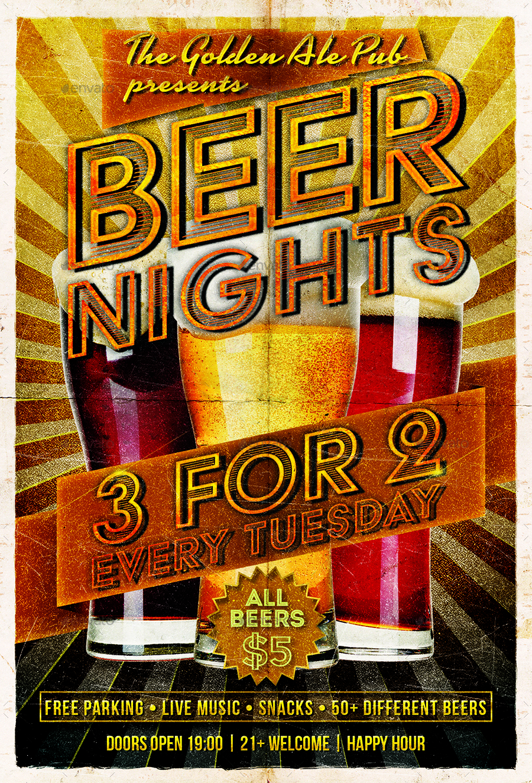 beer night flyer template by designroom1229