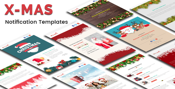 Image of X-MAS - Responsive Newsletter and Notification Template with Stampready Builder Access