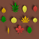 Low poly Leafs Pack - 3DOcean Item for Sale