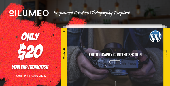 Oilumeo – Responsive Creative Photography WordPress Theme - Photography Creative