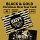 Black & Gold Christmas New Year Card - GraphicRiver Item for Sale