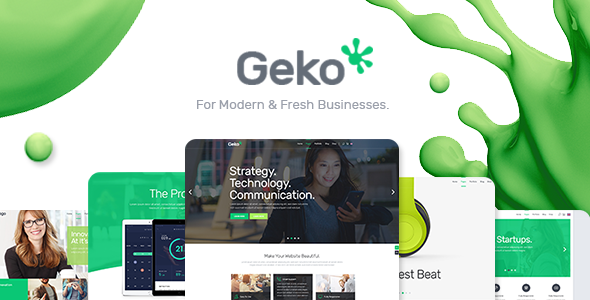 Geko – A Smart Theme For Modern Businesses