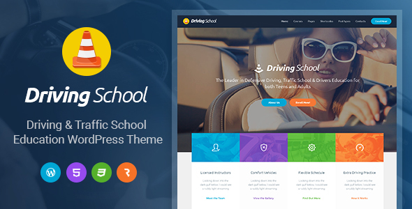 Driving School – Car, Driving & Automobile WordPress Theme