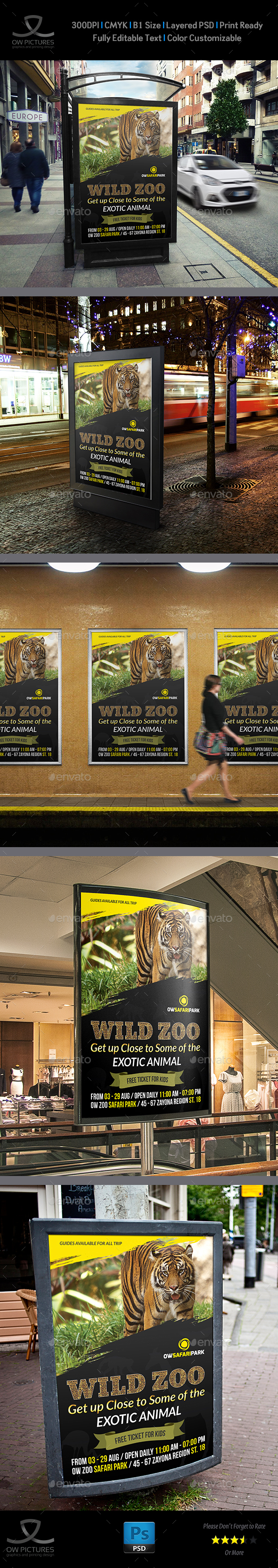 Zoo Poster Template - Signage Print Templates