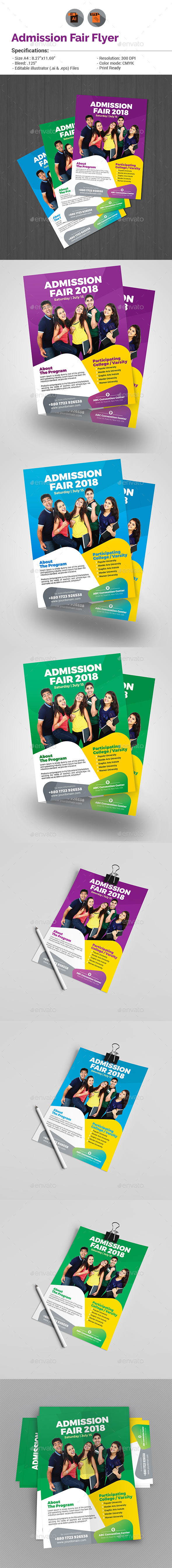 Admission Fair Flyer Template - Miscellaneous Events