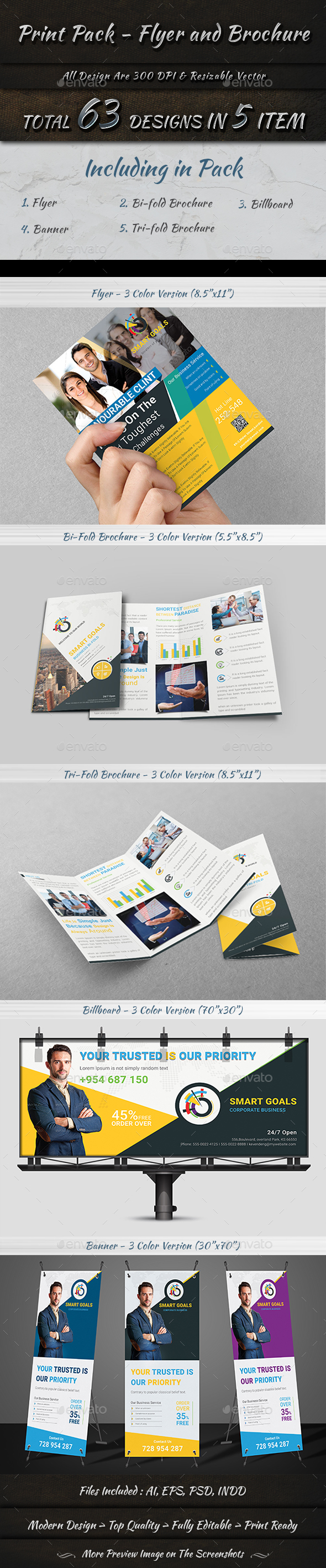 Print Pack - Flyer and Brochure - Print Templates