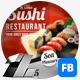 Sushi Food & Restaurant Facebook Covers - GraphicRiver Item for Sale