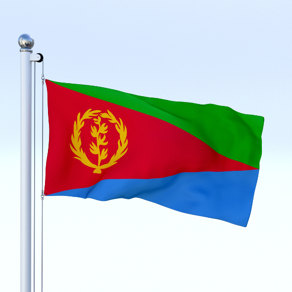 Animated Eritrea Flag - 3DOcean Item for Sale