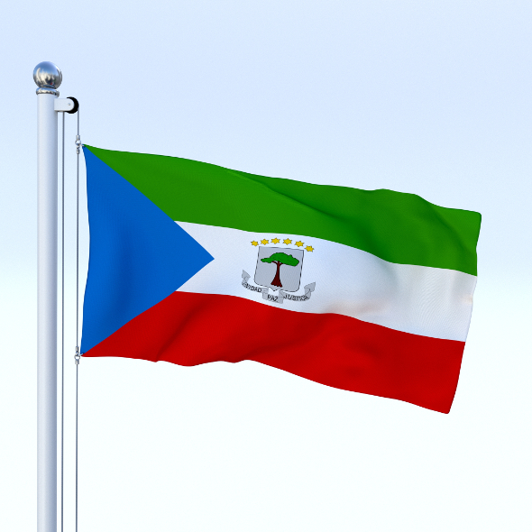 Animated Equatorial Guinea Flag - 3DOcean Item for Sale
