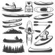 Vintage Kayaking Elements Set - GraphicRiver Item for Sale