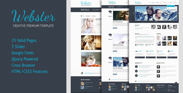 Webster Premium HTML Template  - Creative Site Templates