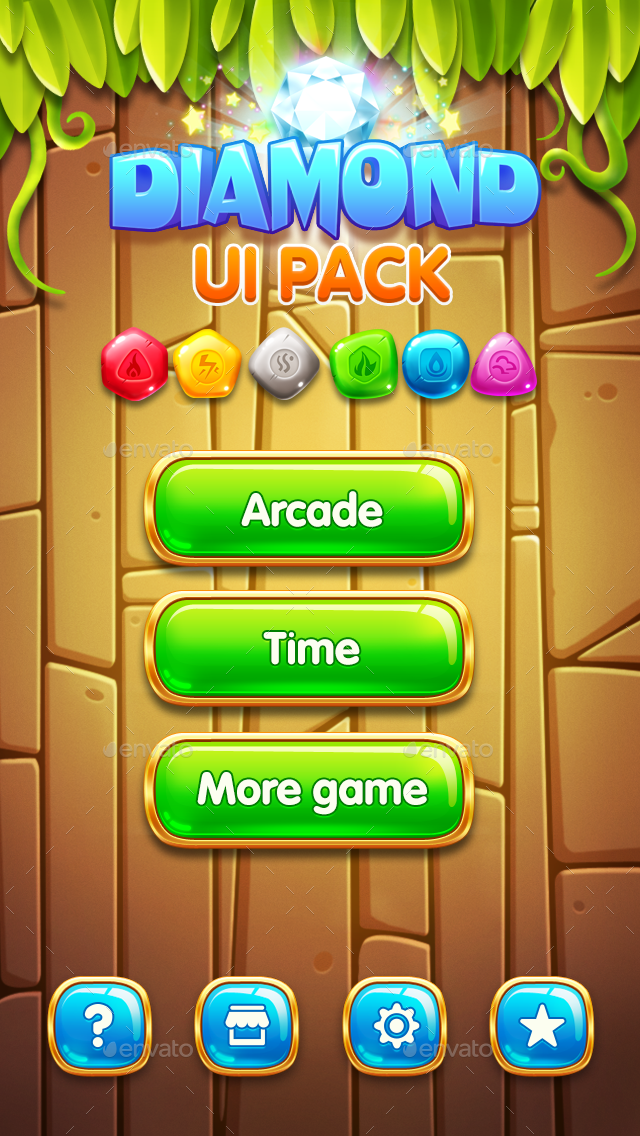 cartoon game ui pack 1 by v9game graphicriver