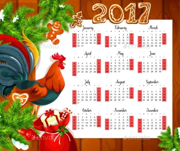 Christmas Calendar on Wooden Background - Christmas Seasons/Holidays