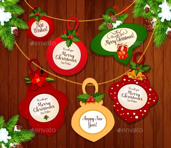 Christmas and New Year Greeting Card Design - Christmas Seasons/Holidays