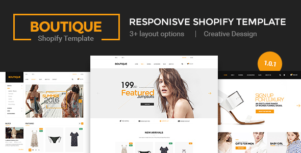 Image of Boutique - Multi Store Responsive Shopify Theme