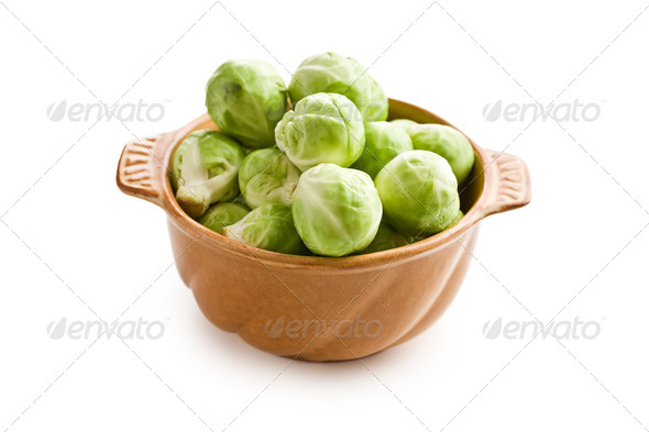 brussels sprouts in bowl - Stock Photo - Images