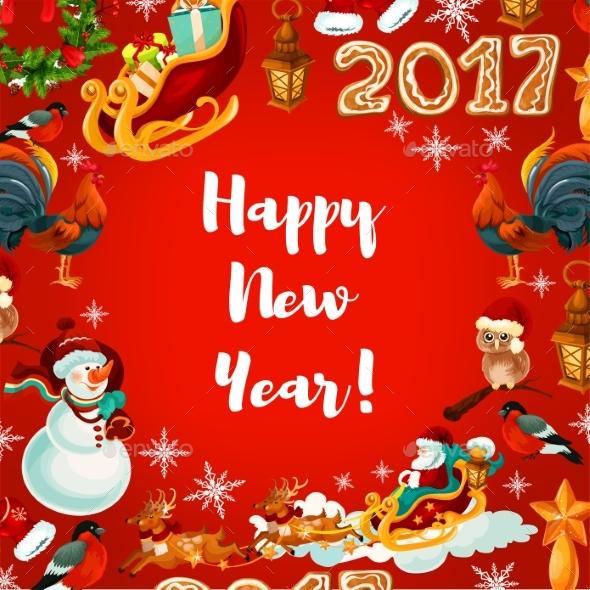 New Year Festive Poster Design - New Year Seasons/Holidays