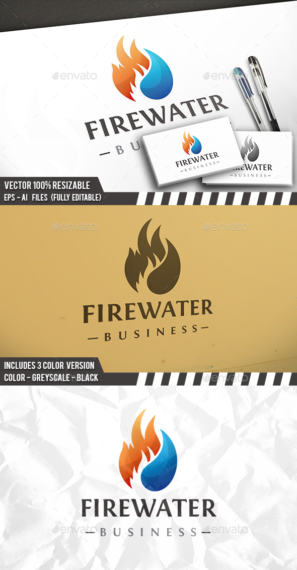 Fire Water - Nature Logo Templates