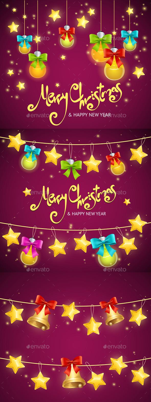 Merry Christmas Background. Vector - Christmas Seasons/Holidays