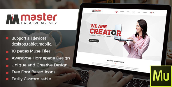 Master Creator - Multipurpose Muse Theme - Creative Muse Templates
